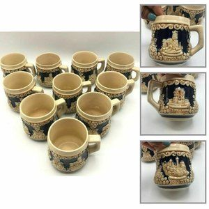 Wick-Werke Pottery Ceramic Germany Cups  Set 10